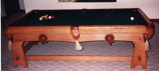Pedestal And Western Details By Andeson Originals - Western pool table